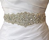 Gorgeous Rhinestone Trim and Detailed Bridal Sash, Wedding Sash, Rhinestone Belt, Bridal Belt, Rhinestone Applique RA124