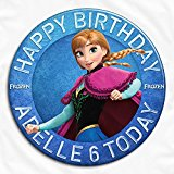 Disney Frozen Anna Birthday Personalised Pin Badge with High Resolution Image Ideal for Birthdays, Christenings, Holy Communions, Baptisms, Naming Ceremonies, Baby Showers, Weddings, Bridal Hen Parties, Anniversaries (5.8cm)