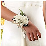 HOT Wedding Beads Rose Wrist Flowers Crystal Bouquet Bride Bridesmaid Decorative
