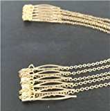 Gold Hair Pin Combs with Chain Cuff Jewellery Bridal Decoration Bride Head Band
