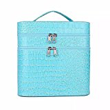 EYX Formula Double Layer Large Capacity Travel Case Cosmetic Bag,Portable Makeup Organizer Storage Bag for Women Ladies