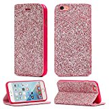 iPhone 6/6S Glitter Bridal Bridesmaid Designer Premium Slim Wallet Case Party Accessory by Gorilla Tech with Card Slot, Stand, Double Magnet Mechanism cover -Color: Pink