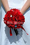 Stunning Red Rose Rockabilly Designer Bridal Wedding Bouquet