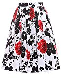 Women's Classy Retro Floral Casual Pleated Skirt Size M CL6294-12