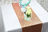 ShinyBeauty Sparkly Rose Gold Sequin Table Runner For Wedding/Events Decoration 30*180cm( Can Choose Your Color) (Rose Gold Color )