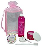 All-Natural Jewellery Cleaner   Deluxe Kit - 4 oz. Liquid Cleaner & 2 oz. Tarnish Remover & Polishing Cream, 12 oz. Liquid Refill, Soft Toothbrush, Organza/Satin Trimmed Tote