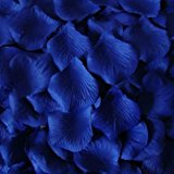 200 Top Quality Royal Blue Silk Rose Petals - Wedding Table Confetti Decorations by PolysGems