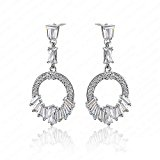 Trolux(TM) New Fashion Design CZ Bridal Wedding Platinum Plated Earrings For Women With Cubic Zirconia CER0030-B