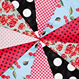 Rockabilly Bunting Party Decoration Vintage Bridal Shower 10m 20 Flags (JA001)