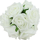 Beauty Bridal Bouquet Rose Flower Party Wedding Bridesmaid Decoration White