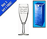 Personalised Engraved Short Champagne Flute Wedding Bridesmaid Birthday Gift