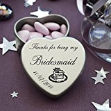 Luxury Personalised Wedding Gifts for Guests, Makes the perfect Keepsake and Momento for your Special Day with mints or chocolates. (Bridesmaid)
