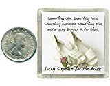 Lucky Silver Sixpence for the Bride to be. Coin for Wedding Day Shoe Gift. great present idea.