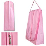 Hangerworld Pack of 2 Pink Wedding Bridal Dress Gown Travel Carry Cover Bag Protectors - 72