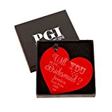 Will You Be My Bridesmaid Acrylic Red Heart, Red Wedding Colour Scheme, Best Friend Wedding Gift