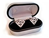 Super Hero Cufflinks (Superman Metallic)