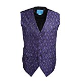 EGC1B08C-S Dark Violet Patterned Absolutely For Marriage Waistcoat Woven Microfiber Waistcoat For Formal Small Vest By Epoint
