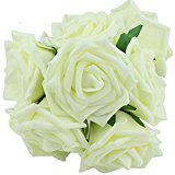 Beauty Bridal Bouquet Rose Flower Party Wedding Bridesmaid Decoration Cream Ivory