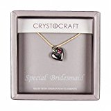 Crystocraft Keepsake Gift Ornament - Crystocraft Necklace with Heart Charm Our Special Bridesmaid