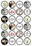 Bridal/Wedding Edible PREMIUM THICKNESS SWEETENED VANILLA,Wafer Rice Paper Cupcake Toppers/Decorations