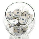 Just Married Rock Sweets Candies About 50 pcs Grey - V, Sachsen Bridal Wedding Guests Gifts Store