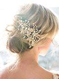 Gracewedding Crystal Bridal Hair Pins Wedding Hair Accessories-Rhinestone Jewelry Headdress(pack of 2)