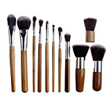 FOONEE Professional Bridal Women Cosmetic Makeup Brush Set Beauty Tools with Bag,Set of 11