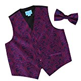 EGE1B01D-XL Purple Blue Wedding Dress Waistcoats Vest s Patterns Microfiber Waistcoat and Pre-tied Bow Tie Various By Epoint
