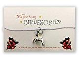 Christmas Wish Bracelets: Bridesmaid: White Twine: Reindeer Charm
