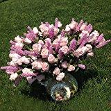 Wedding Bridal 9 Heads Lavender Rose Artificial Peony Silk Flowers Hydrangea Decor Flower