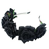 SZTARA Girl Bride Rose Flower Crown Wedding Festival Headband Hairband Floral Garland Headpiece