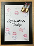 Hen Party Kiss The Miss Goodbye Frame Lipstick Guestbook Keepsake Game Gift for Bride
