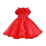 Greenery Girls Flower Formal Wedding Bridesmaid Party Christening Princess Kids Clothes Costume Cosplay Dress 4-8 Years
