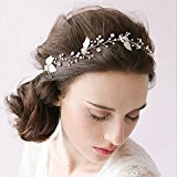 JaneDream The Headdress Of The Manual Diamond Dorgeous Decoration Wedding Leaves Shiny Hair Headband Hair Accessories