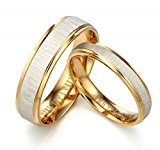 Gemini His or Her 18K Yellow Gold Filled Anniversary Wedding Ring Valentine's Day Gift for Men