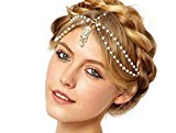 Women Head Chain Fashion Wedding Bride Bridesmaid Gift Metal Rhinestone Jewellery Headband Head Piece Hair band (H14)