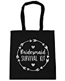 HippoWarehouse Bridesmaid survival kit Tote Shopping Gym Beach Bag 42cm x38cm, 10 litres