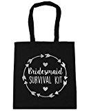 HippoWarehouse Bridesmaid survival kit Tote Shopping Gym Beach Bag 42cm x38cm, 10 litres