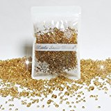 Over 3500 Scatter Diamonds Wedding party Table Confetti crystal - 3 Mixed Sizes - Many Colours (Pale Gold)