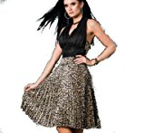 celeb style pleated frills leopard print black brown multicolor scarf Elegant satin club long frills Evening Cocktail Dress Size 14, flower party o wedding