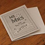 East of India Mr And Mrs Happily Ever After Grey Wedding Card - Shabby Chic Style