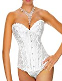 Yummy Bee Corset Bustier Plus Size for Waist Training Ivory White Women Bridal Sexy Lingerie (14)