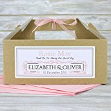 Personalised Children's Wedding Favour Activity | Gift Party Box Bag Kraft Brown (Pale Pink)