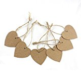 OurWarm® Brown Kraft Paper Blank Tags Bookmarks Wedding Party Personalised Favour Gift DIY Card Scrapbooking Blank Tags Shape