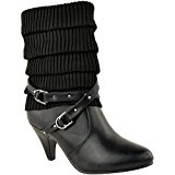 LADIES WOMENS LOW MID STILETTO HEEL WINTER BIKER KNEE HIGH CALF ANKLE BOOTS SIZE
